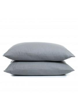 2'li 50x70 Gri Pazen Yastık Kılıfı