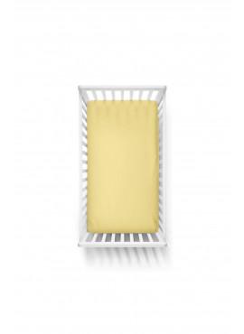 Süprem Penye Lastikli Bebek Çarşafı- Sarı 60X120