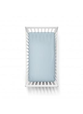 60x120 Penye Lastikli Bebek Çarşafı - Krem Mavi Yeşil 3'lü Set
