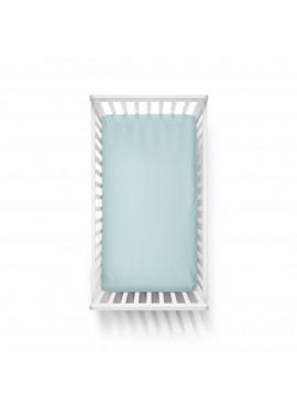 70x140 Penye Lastikli Bebek Çarşafı - Krem Mavi Yeşil 3'lü Set