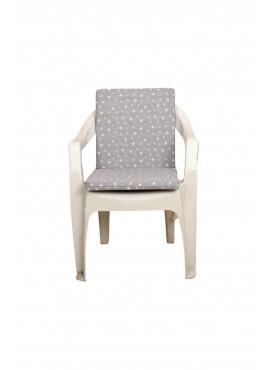 Gri Yıldız Desenli Sandalye Minderi 1 Adet