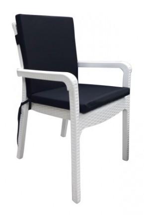 Siyah Sandalye Minderi 6'lı (Arkalıklı)