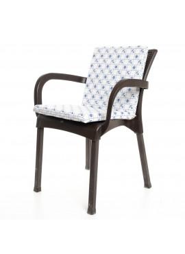 Beyaz Çapa Desenli Sandalye Minderi 1 Adet