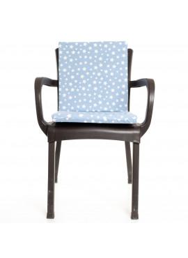 Mavi Yıldız Desenli Sandalye Minderi 1 Adet