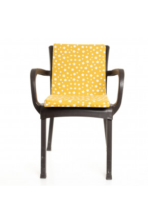 Sarı Yıldız Desenli Sandalye Minderi 1 Adet