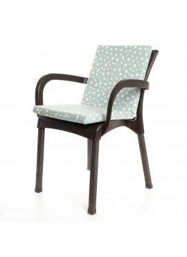 Mint Yeşili Yıldız Desenli Sandalye Minderi 1 Adet
