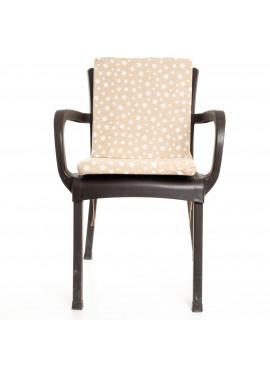 Bej Yıldız Desenli Sandalye Minderi 1 Adet