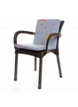 Lacivert Çizgili Çapa Desenli Sandalye Minderi 1 Adet