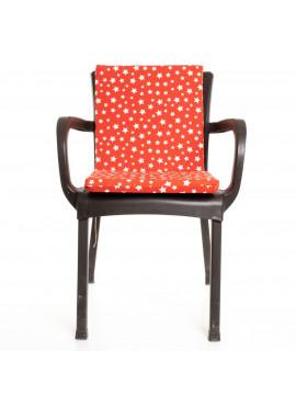 Kırmızı Yıldız Desenli Sandalye Minderi 1 Adet