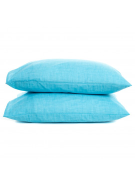 2'li 50x70 Ranforce Mavi Yastık Kılıfı