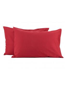 2'li 50x70 Renforce Kırmızı Yastık Kılıfı