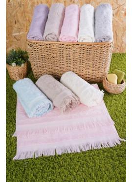 %100 Cotton 50x90 Çok Renkli 12`li Havlu Seti