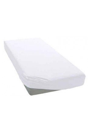 Beyaz Penye Lastikli Çarşaf - 140x190