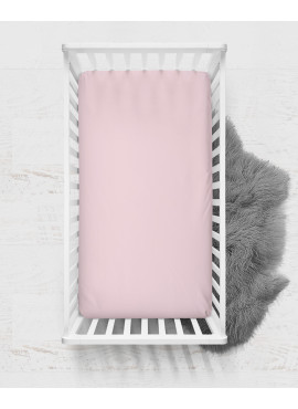 60x120 Penye Lastikli Bebek Çarşafı - Krem Pembe Lila 3'lü Set